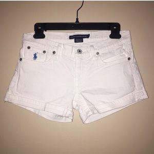Ralph Lauren Sport White Denim Shorts